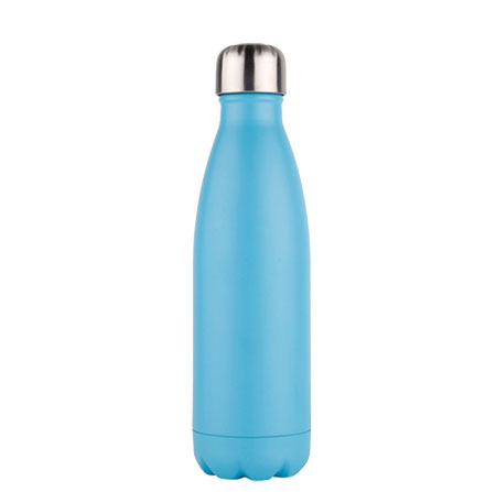 Blauw aluminium drinkfles rvs