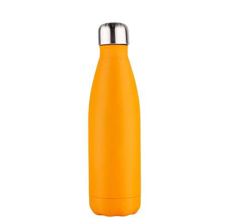 oranje roestvrijstaal drinkfles