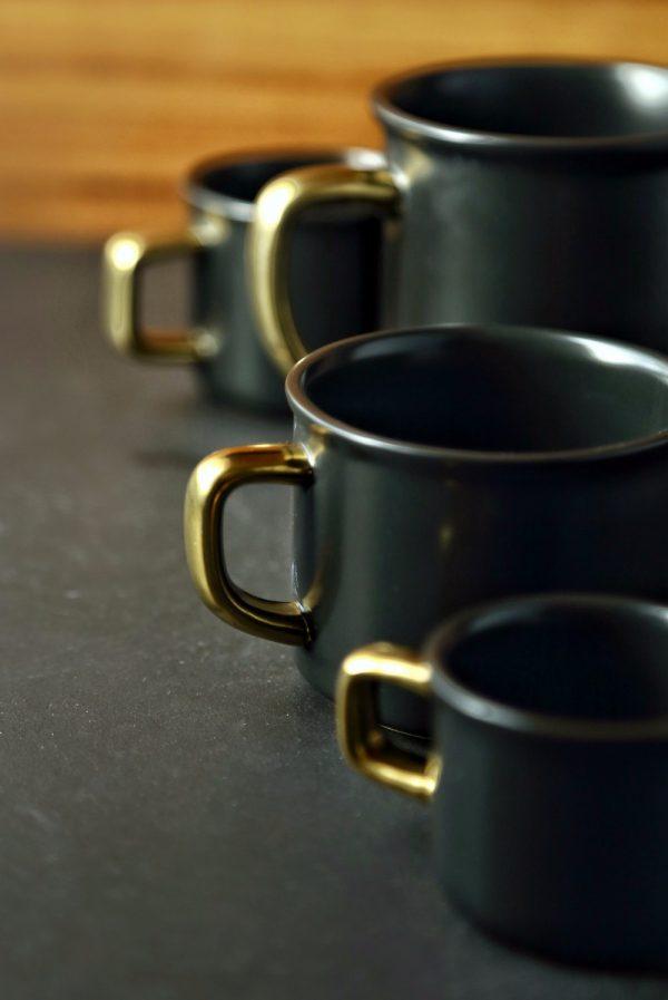 luxe keramieke mok zwart