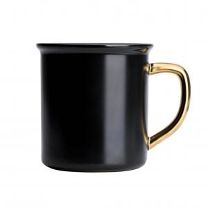 keramische mok zwart goud